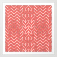 chevron Art Prints featuring Chevron by Dizzy Moments