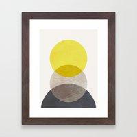 SUN MOON EARTH Framed Art Print