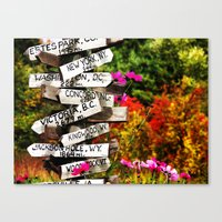 Signpost in the Fall Canvas Print