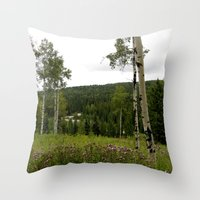 Spring In WaterValley Throw Pillow