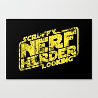 Scruffy Looking Nerf Her… Canvas Print
