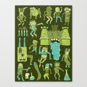 Wow! Frankensteins! Canvas Print