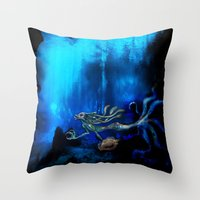 Mermaid II Throw Pillow