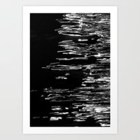 Black Water  Art Print