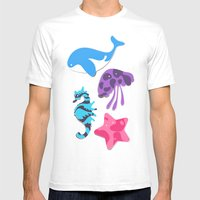 Oceania Mens Fitted Tee White SMALL