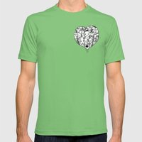 Heart Mens Fitted Tee Grass SMALL