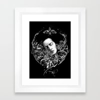 Allegory. Night. Framed Art Print