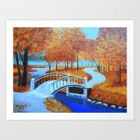 Autumn landscape 5 Art Print