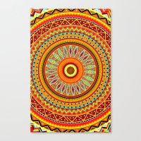 Mandala Aztec Pattern 5 Canvas Print