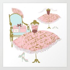 Millie's Dress Shoppe Art Print