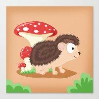 Woodland Animals Serie I… Canvas Print