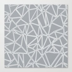 Ab Blocks Grey #2 Canvas Print