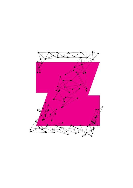 Z (abstract geometrical type) Art Print