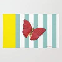 Coral butterfly Rug