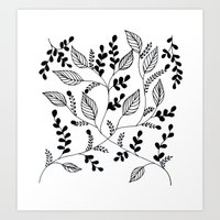 Flower Pattern #1 Art Print