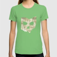 Ohio Skull Womens Fitted Tee Grass SMALL