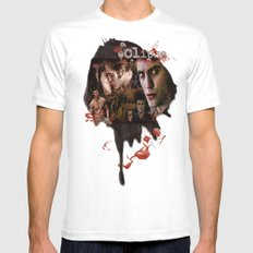 Eclipse Tribute by Martoni (Pattinson, Stewart, Lautner) White SMALL Mens Fitted Tee