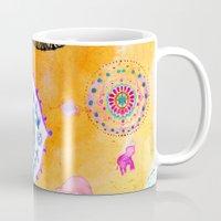 Bohemian Mandala elephant (bright) Mug