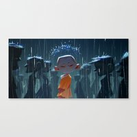 Monk in modern times Canvas Print