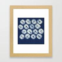 Shibori six Framed Art Print