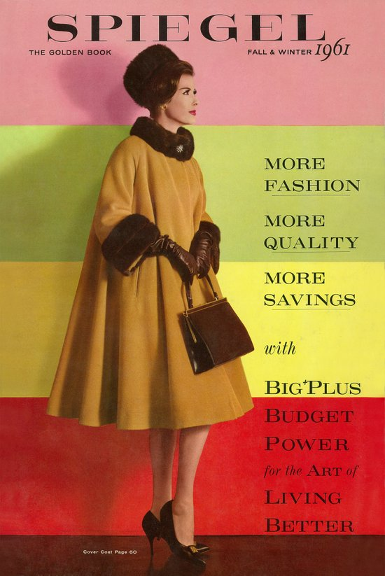 1961 fall winter catalog cover canvas print by spiegel for Spiegel cover