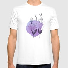 lisianthus White Mens Fitted Tee SMALL