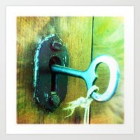 heart key Art Print