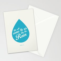 He Will Come To Us Like The Rain Stationery Cards