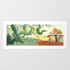 Singing Ventura Highway Art Print
