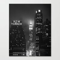 Empire State Building At… Canvas Print