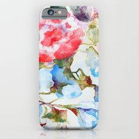 Peonies and Morning Glory iPhone 6 Slim Case