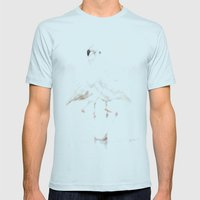Flamingo Mens Fitted Tee Light Blue SMALL