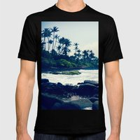 maui north shore hawaii Mens Fitted Tee Black SMALL