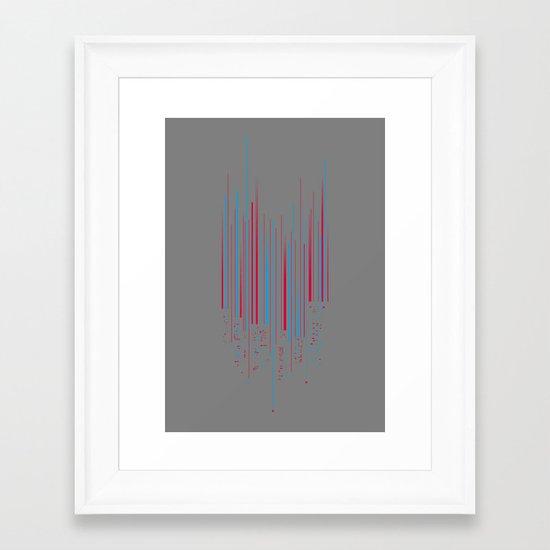 Urban Oscillations Framed Art Print