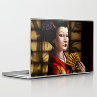 japanese Laptop & iPad Skins featuring Japanese by Ayu Marques