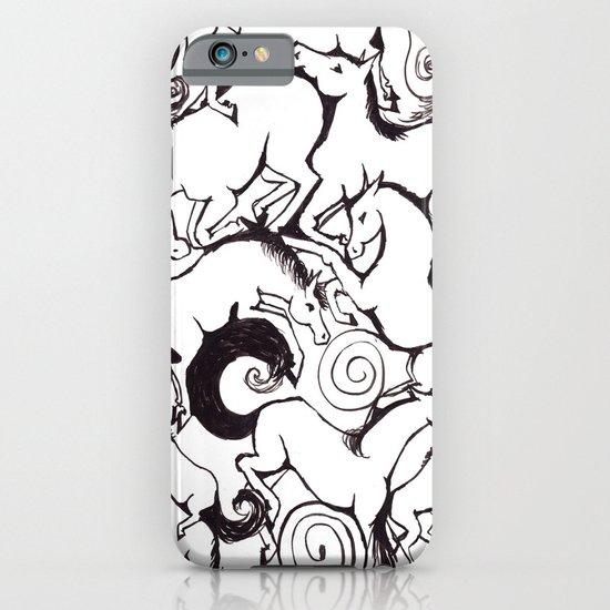 B&W Horse Pattern iPhone & iPod Case