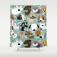 Dog Pattern Shower Curtain