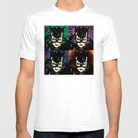 Four Catwomen Mens Fitted Tee White SMALL