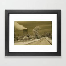 Infrared Nuclear Fallout Framed Art Print