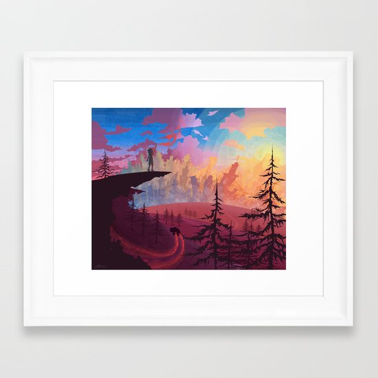 Let's Get Out Of This Country Framed Art Print