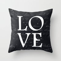 Love - Black Edition Throw Pillow