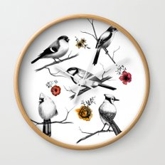 BIRDS & FLOWERS Wall Clock