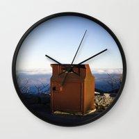 Miles high trash can Wall Clock