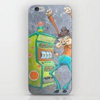 Skinny Pig playing Slot Machine iPhone & iPod Skin