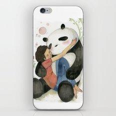 Cuddling with Panda iPhone & iPod Skin