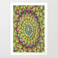 Art Print featuring Mandala On Copper Plate … by Die Farbenfluesterin