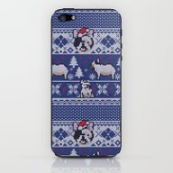Christmas Frenchie iPhone & iPod Skin