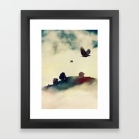Send a raven Framed Art Print