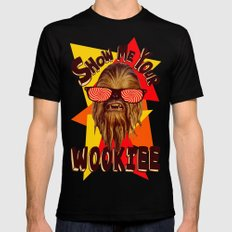 Show Me Your Wookiee!  |  Chewbacca  SMALL Mens Fitted Tee Black