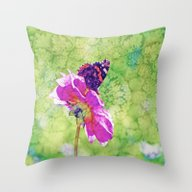 Throw Pillow featuring Butterfly Experience by Die Farbenfluesterin
